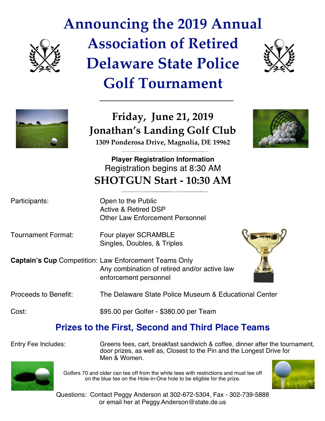 Association of Retired Delaware State Police 2017 Annual Golf Tournament