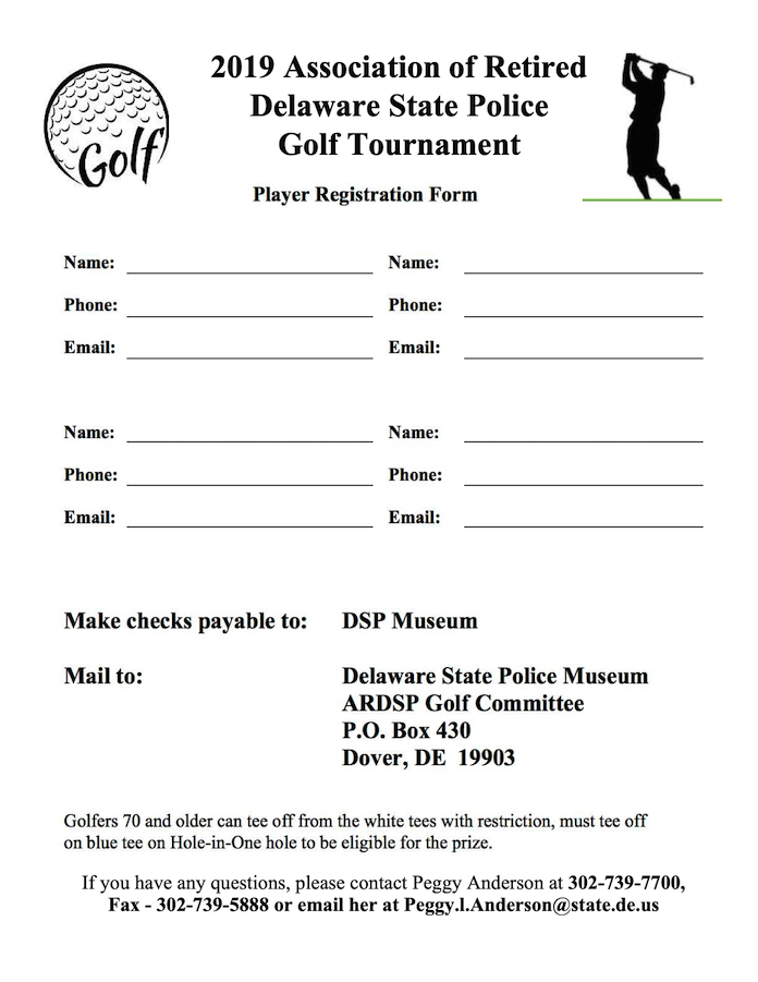 Delaware State Police Golf Tournament Corporate Sponsorship